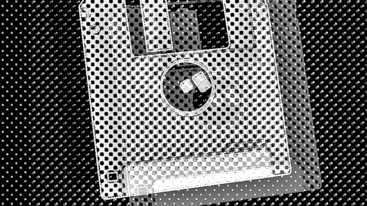 Achromatic Floppy Disk #6