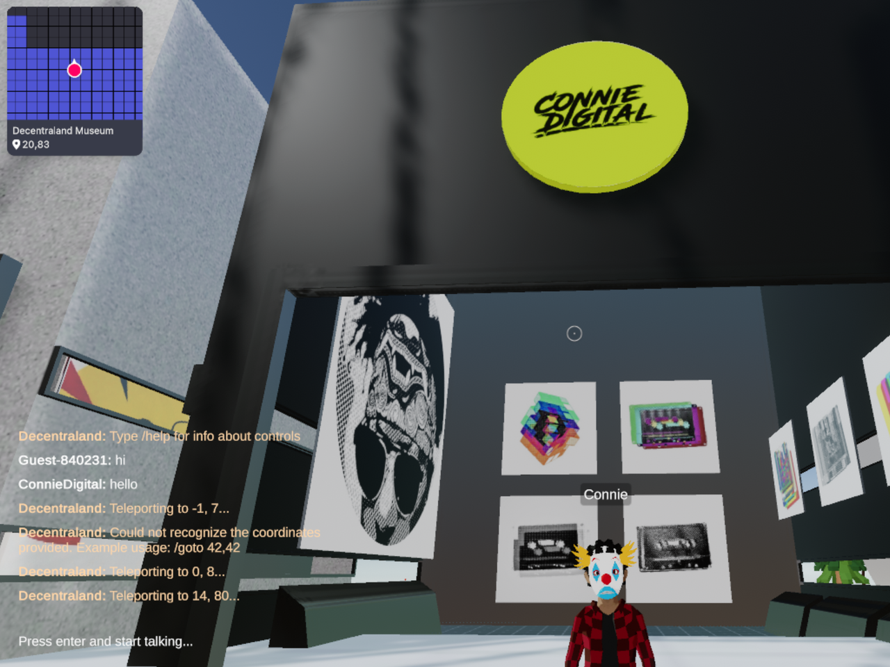 Connie Digital Virtual Art Gallery_10_Decentraland