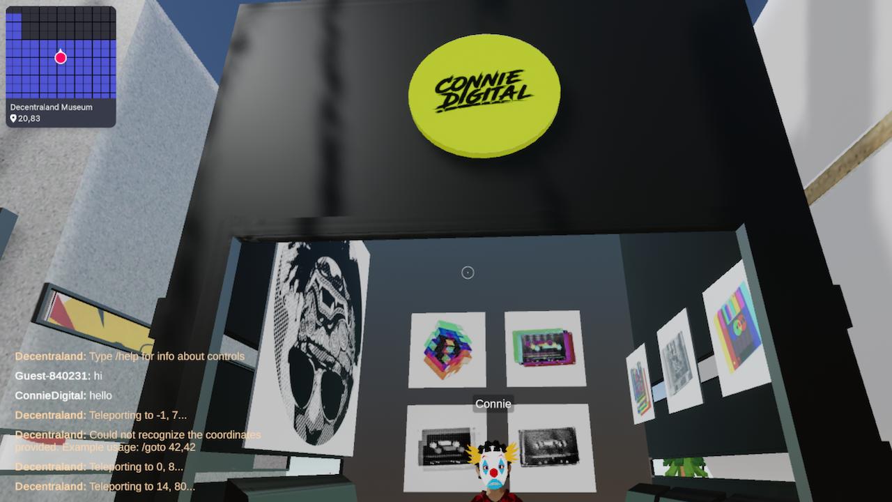 Connie Digital Virtual Art Gallery_10_Decentraland