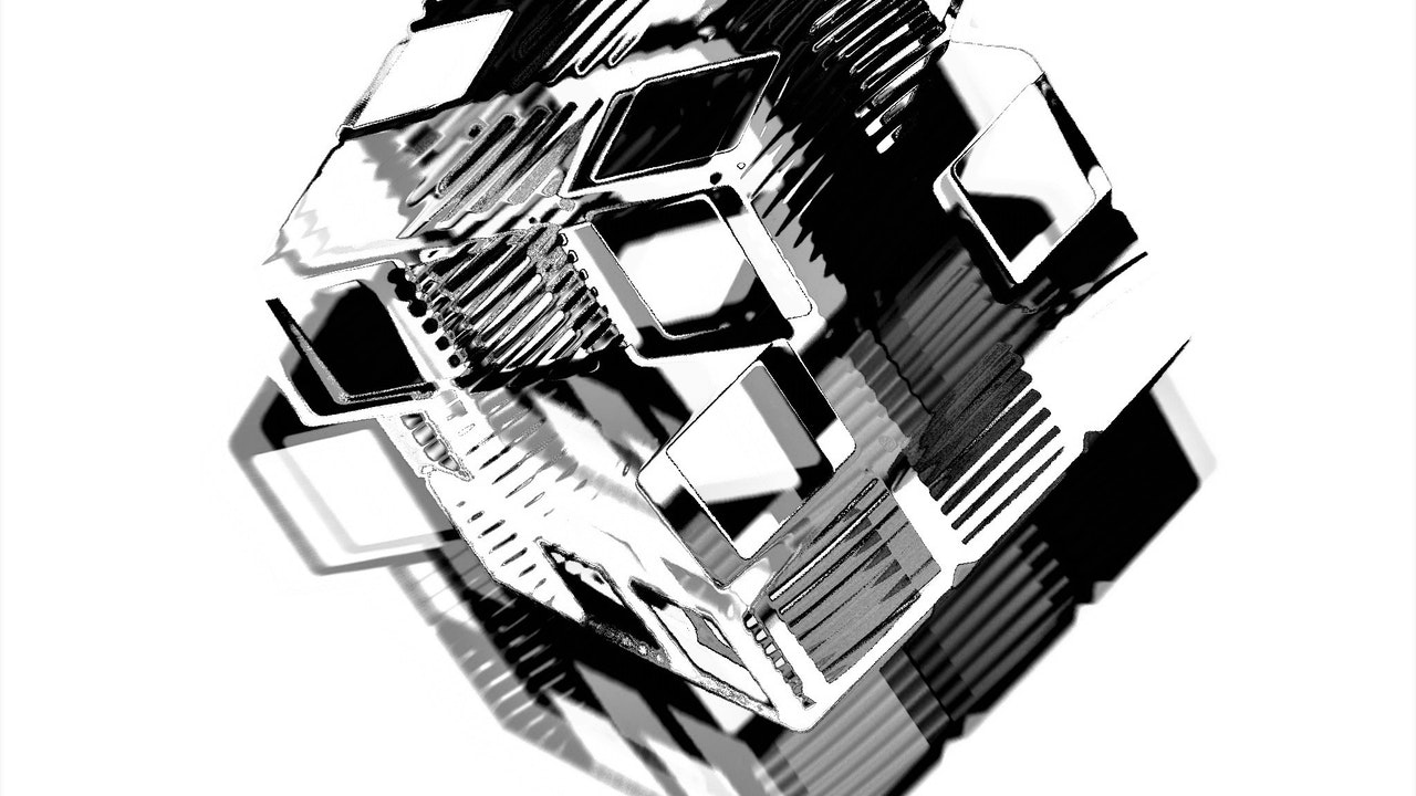 Achromatic Cube #5