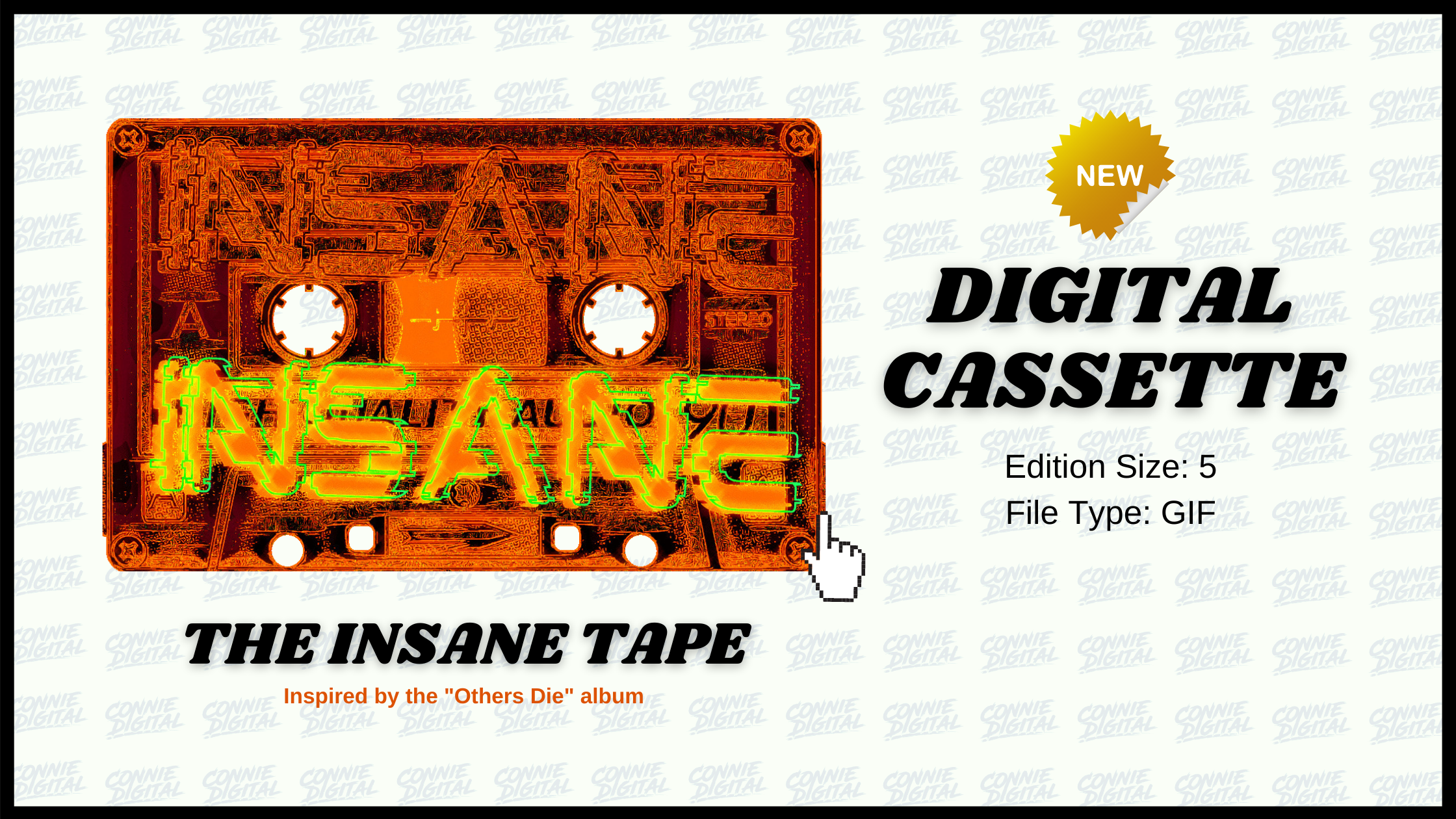 Insane Tape Connie Digital Mighty33 Others Die Blockchain album NFT Music