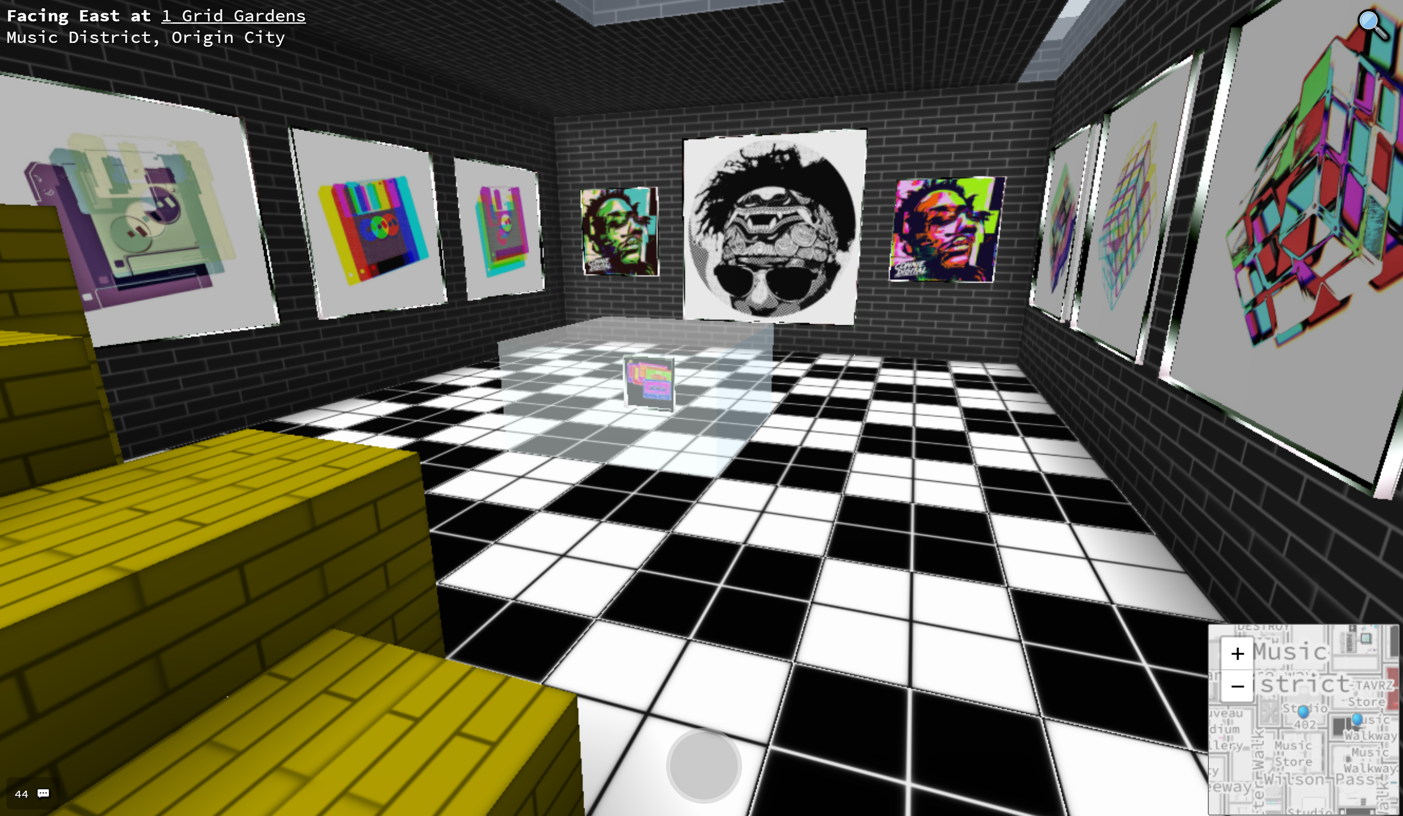 Connie Digital Cryptovoxels VR Art Gallery on Ethereum