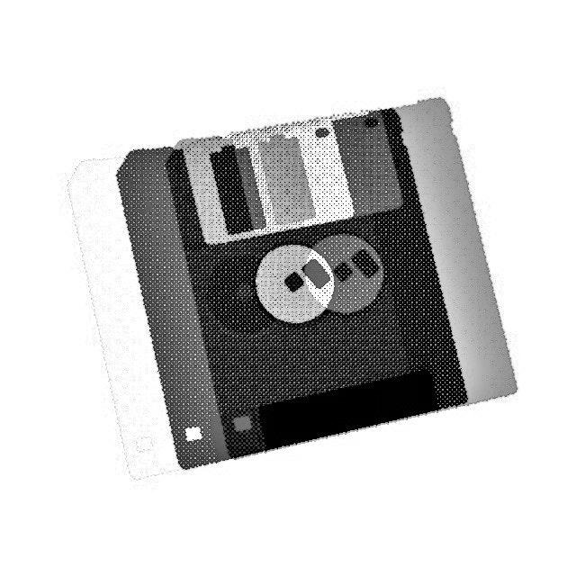 Achromatic Floppy Disk #2 by Connie Digital