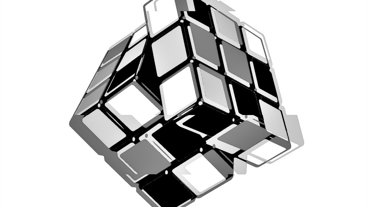 Achromatic Cube #3