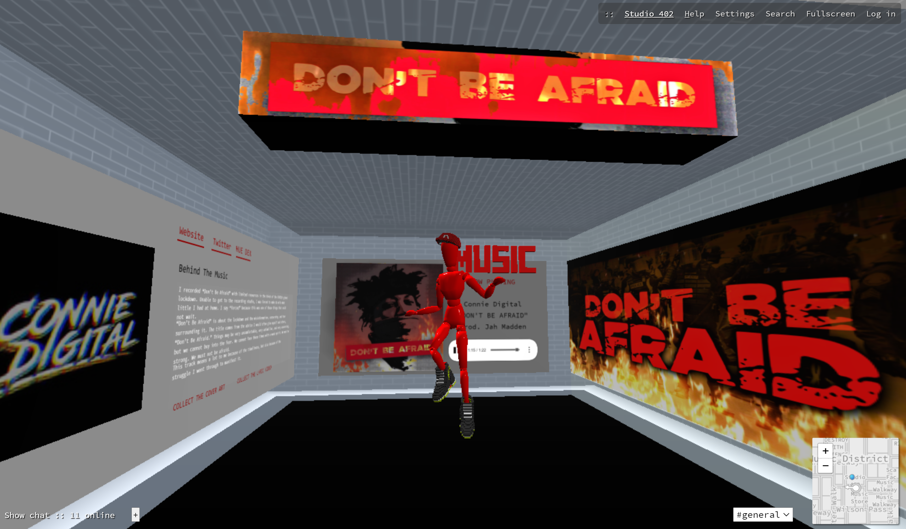 Connie Digital_Dont Be Afraid_NFT Collection 2020 Cryptovoxels