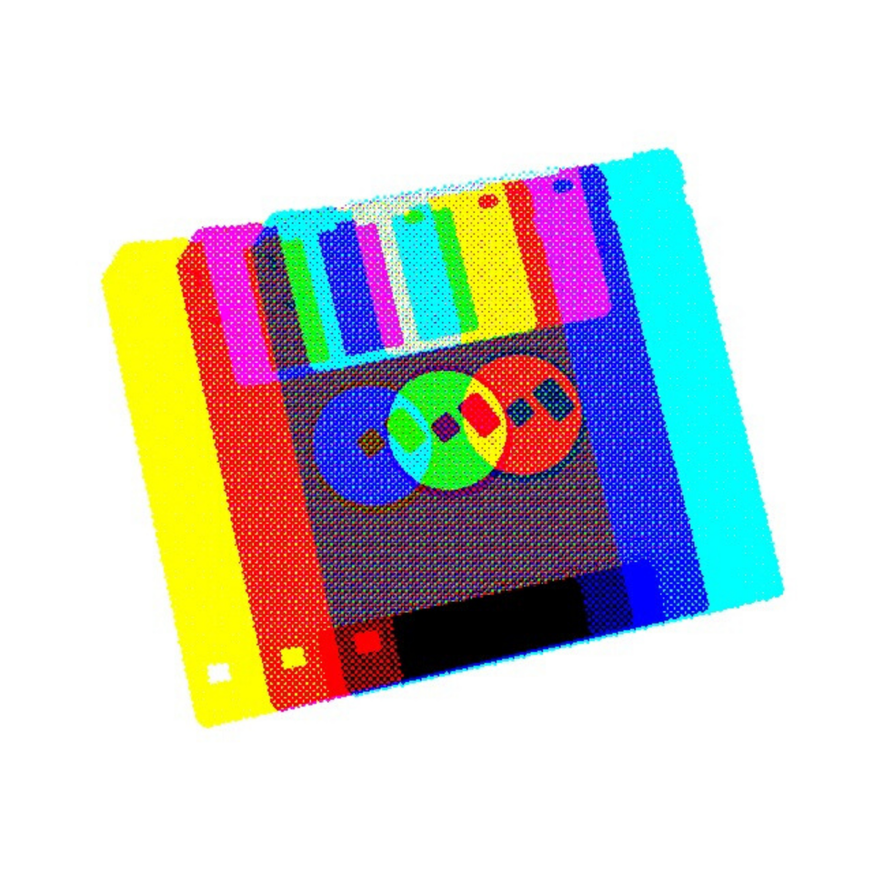 Chromatic Floppy Disk #1 by ConnieDigital
