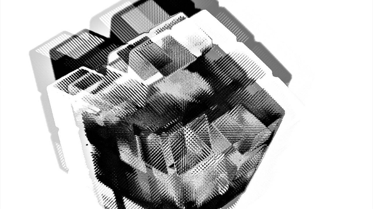 Achromatic Cube #4