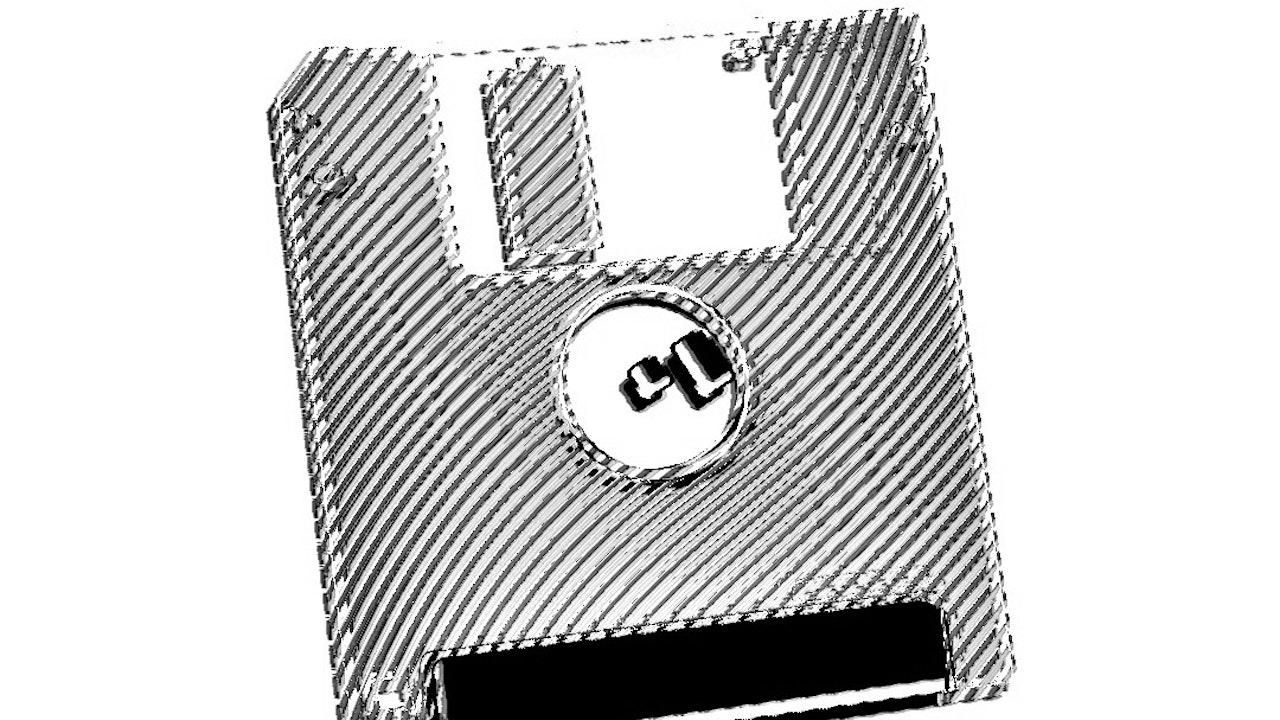 Achromatic Floppy Disk #4
