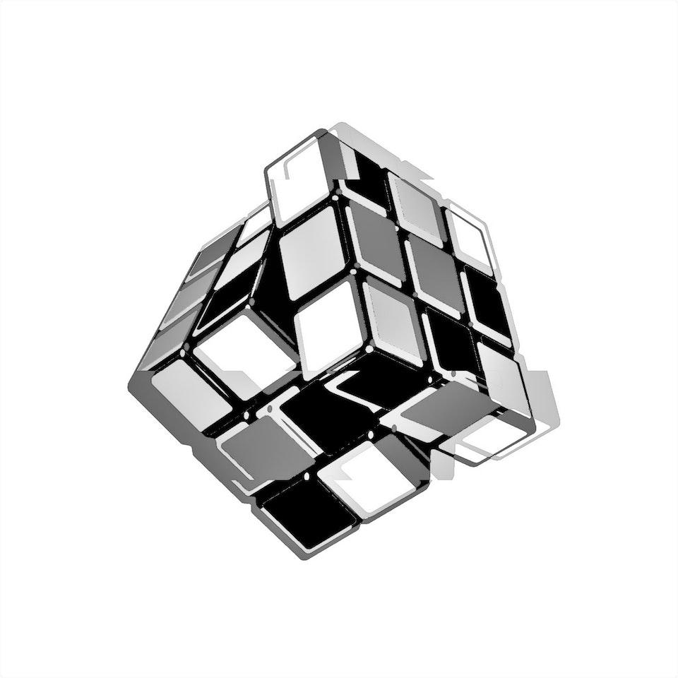 Achromatic Cube #3 by Connie Digital