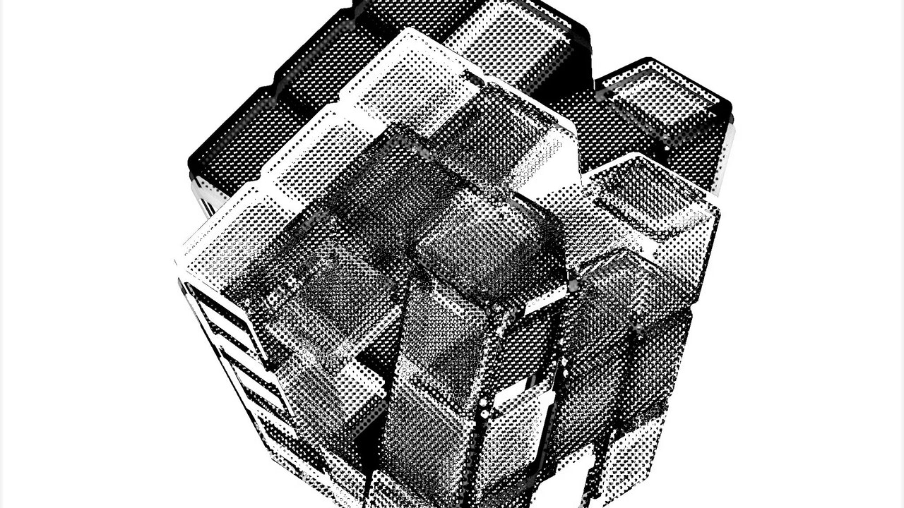 Achromatic Cube #1