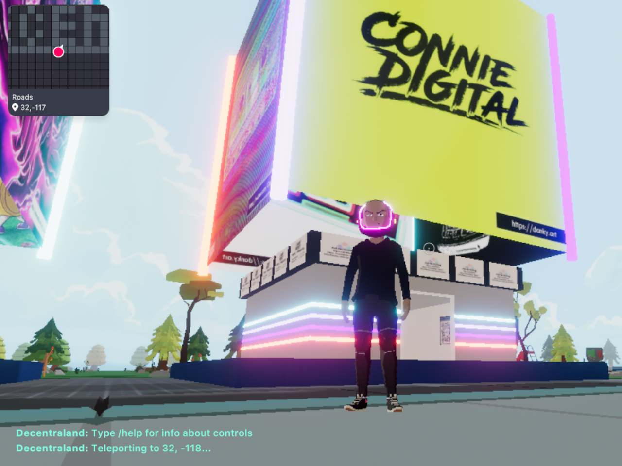 Connie Digital Virtual Art Gallery_14_Decentraland