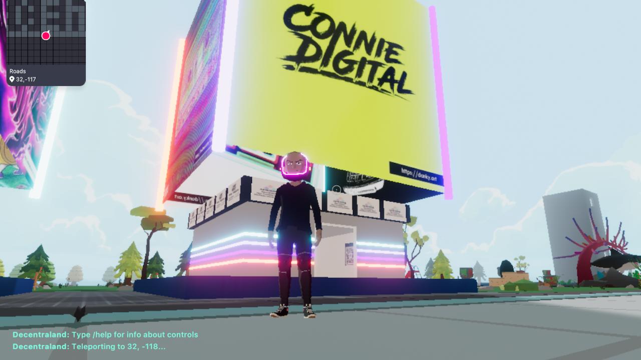 Connie Digital Virtual Art Gallery_14_Decentraland