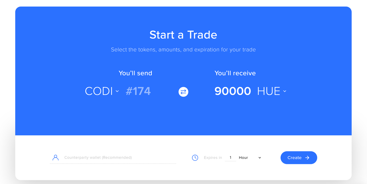 HUE and NFTs on AirSwap Trader