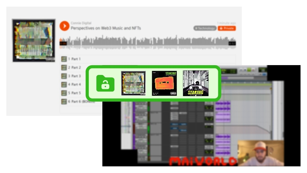 STAKING NFT Music Connie Digital_MAiWORLD Mintgate