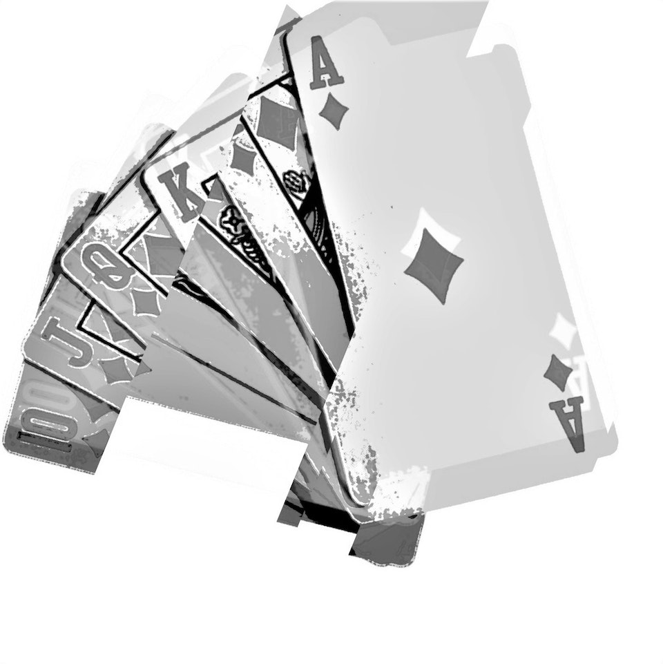 Achromatic Playing Cards #2 by Connie Digital