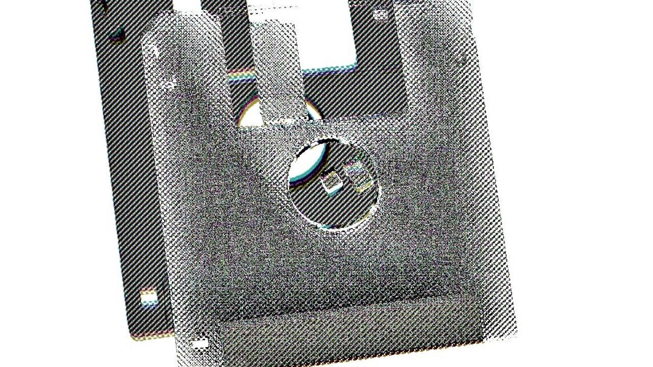 Achromatic Floppy Disk #3