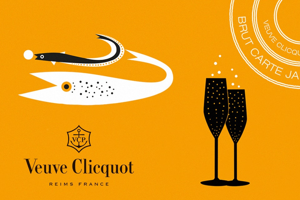 THE YELLOW BASKET  - VEUVE CLICQUOT -