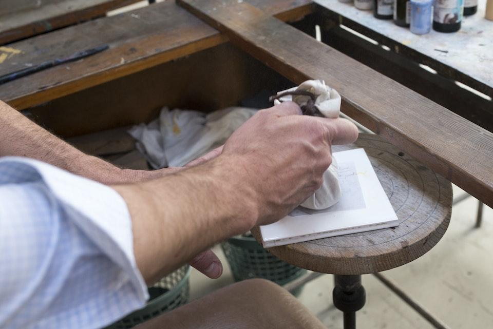 Composteur en céramique - Transfert de motif, technique artisanale