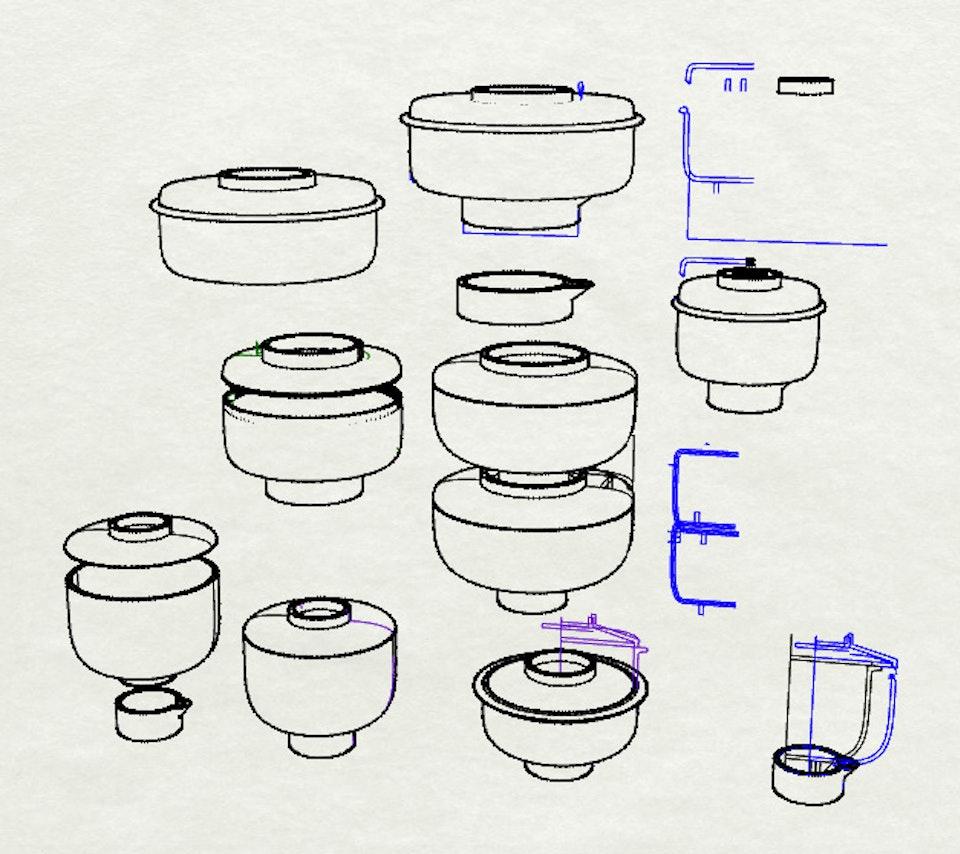 Composteur en céramique - Croquis et recherches