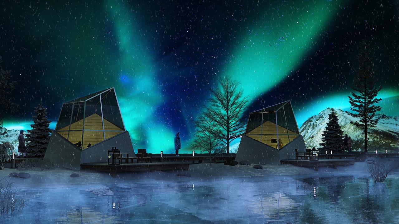 Northern light houses
