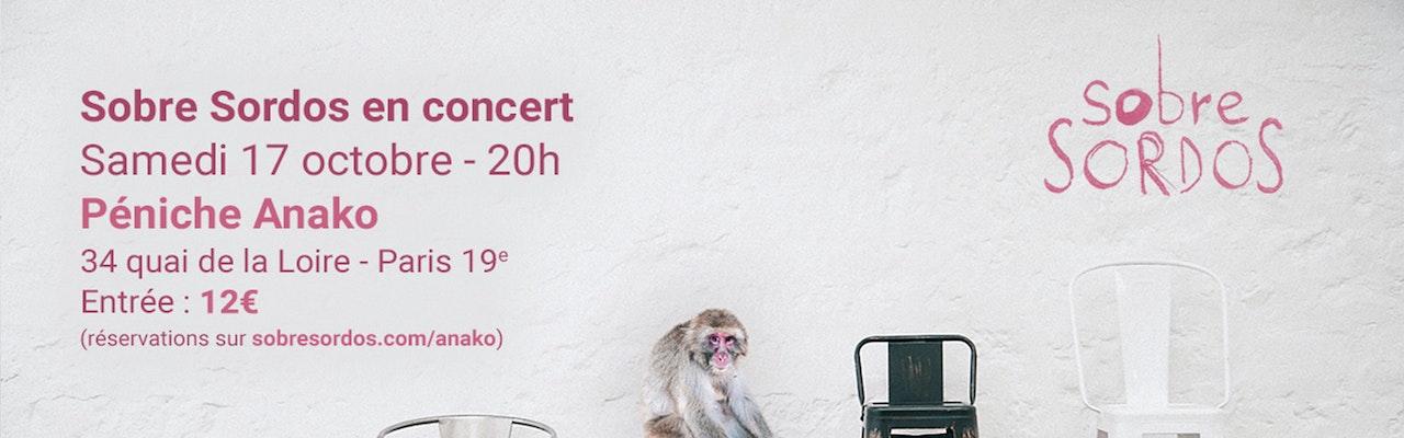 Concert de Sobre Sordos, le 17 octobre 2020 à la Péniche Anako