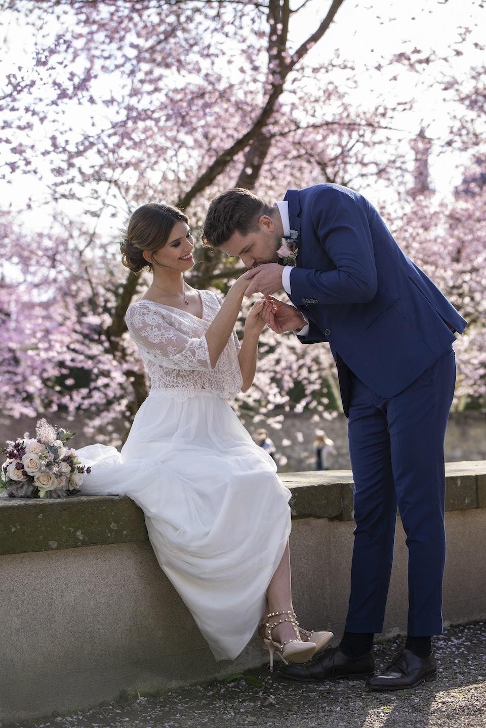 Kirschblüte Mannheim Hochzeit -