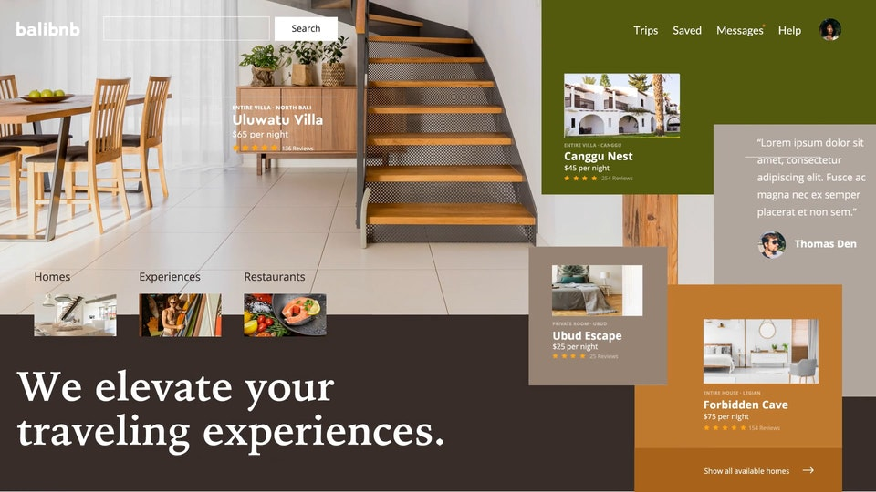 Balibnb User Interface Design