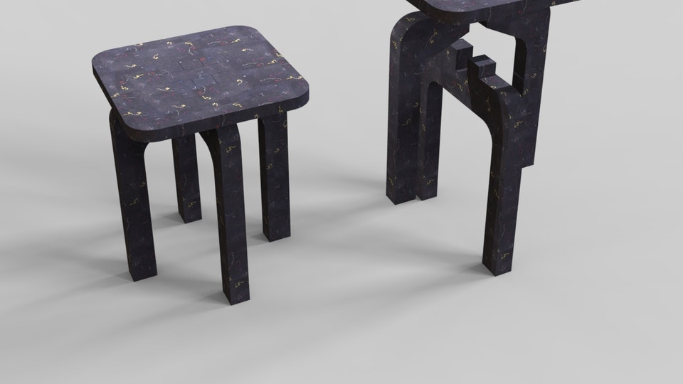 Brick: Recycled Clothes Chair