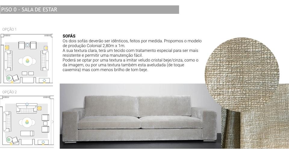 Projeto de decoração Casa Familiar Cascais - sofá e layout de sala design de interiores