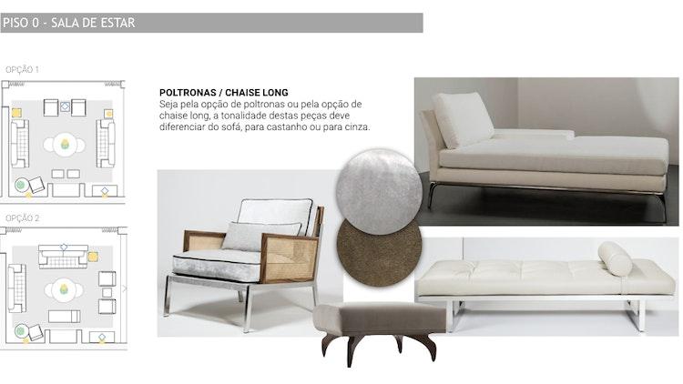 Projeto de decoração Casa Familiar Cascais - Sala de estar de estilo elegante com detalhes com sofisticação como metais e dourados com mobiliário escolhido feito em Portugal