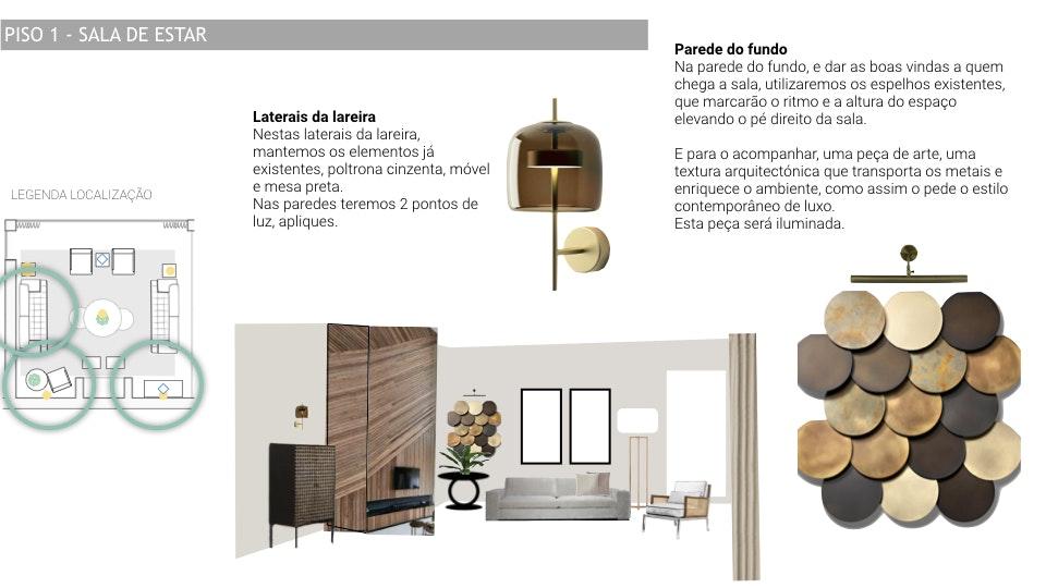 Projeto de decoração Casa Familiar Cascais - detalhes de uma proposta de decoração e design de interiores com planta em detalhe