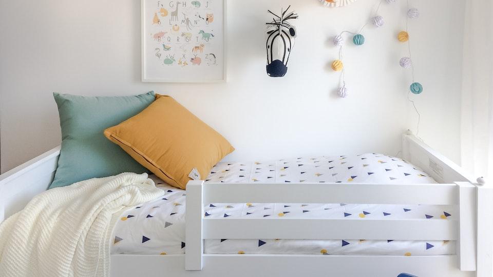 Apartamento Centro de Lisboa - Design de Interiores - Decoração de parede com animais para quarto infantil, elegante e harmonioso