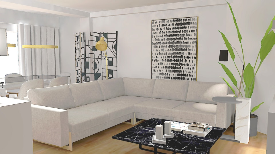 SOI HOME & STORE DESIGN - Projeto sala 3D