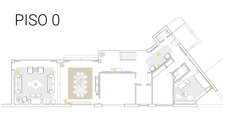 Projeto de decoração Casa Familiar Cascais - planta com mobiliário à escala para projeto de decoração de interiores cascais