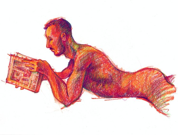 Figure Drawing - Jason 01 (Red)