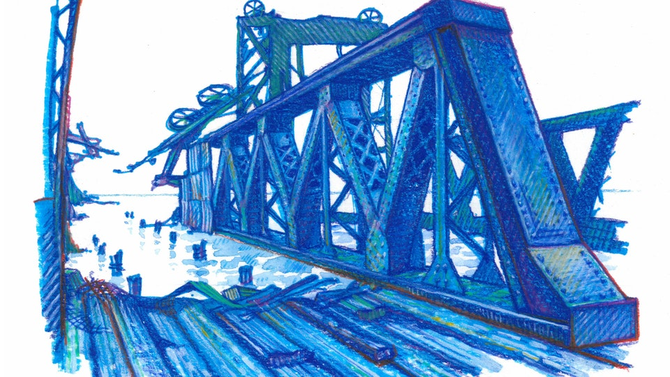 "NYC PRIDE - The Piers. NYC Pride Series. (Marker, colored pencil, & gouache, 8""x8"")"