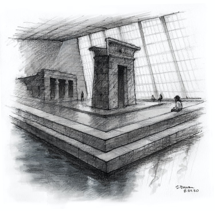 First Day Back at the Met: The Temple of Dendur