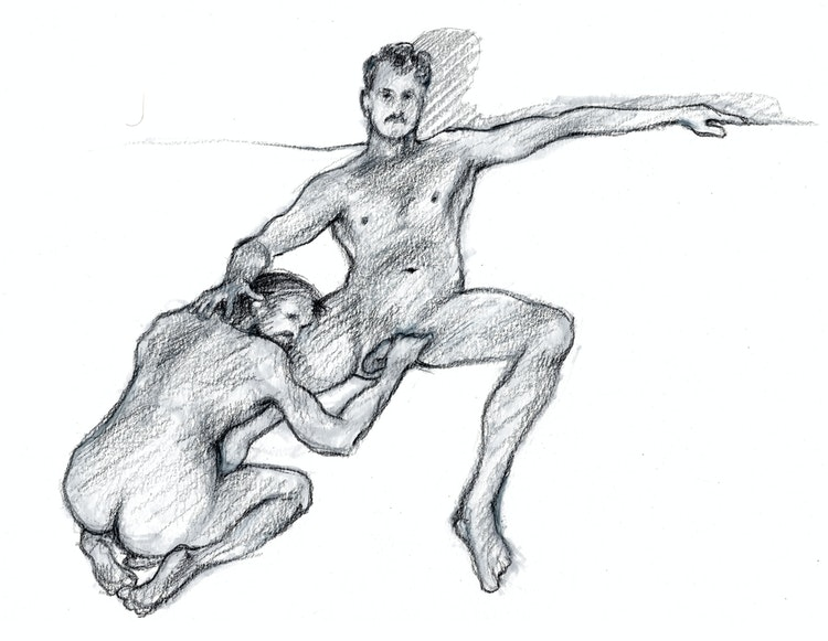 Figure Drawing - Conor & Kevin 01