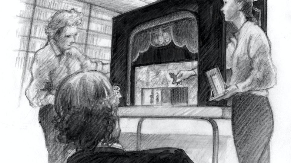 THEATER, OPERA, & BALLET - Set Model Presentation, Royal Opera House. (Marker, graphite, & colored pencil)