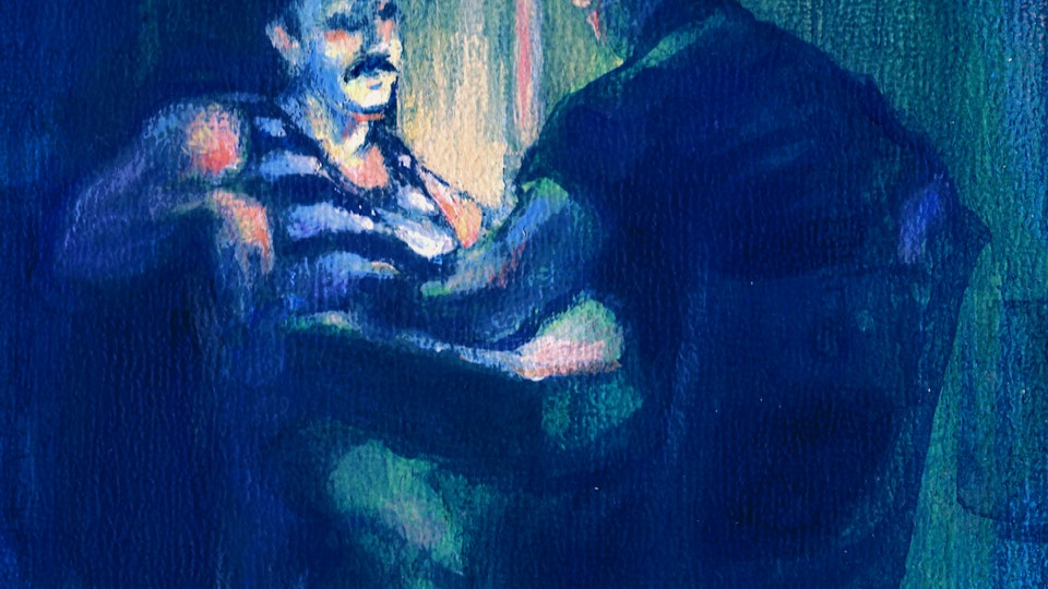 PROVINCETOWN - The Canteen, Closing Time. Detail. (Acrylic on panel)