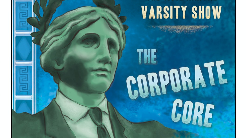 POSTERS & COVER ART - Program cover art for the 118th Annual Varsity Show, Columbia University.