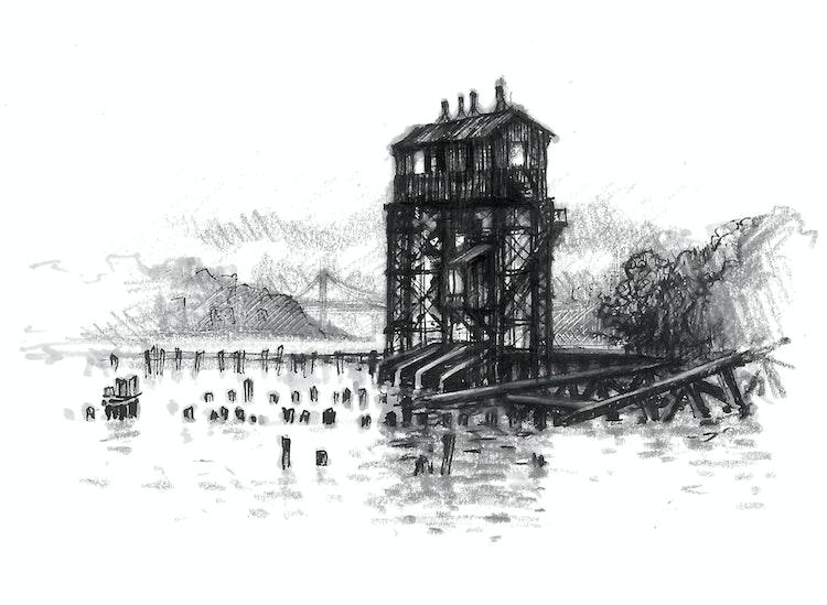New York City - Pier I Gantry 01