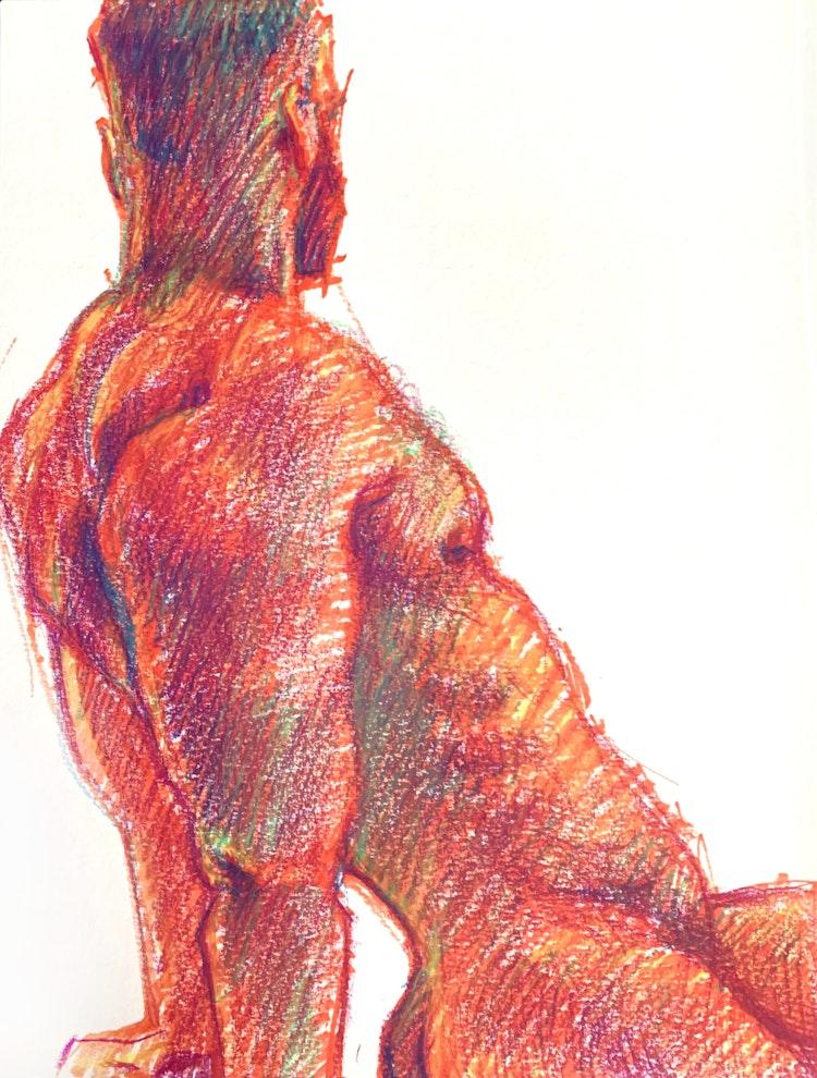 Figure Drawing - Logan 01 (Red)