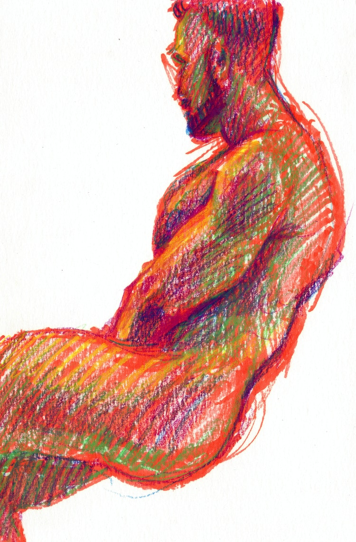 Figure Drawing - Logan 03 (Red)