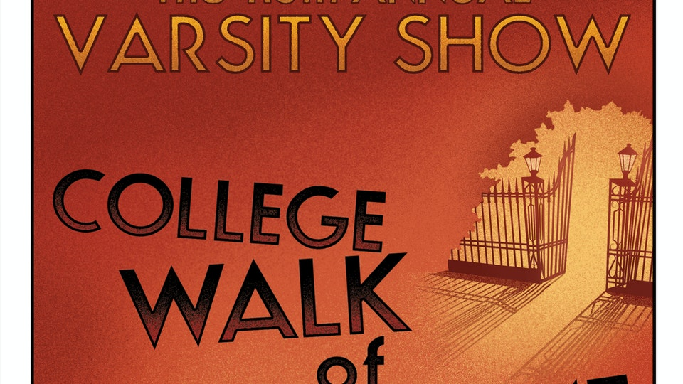 POSTERS & COVER ART - Program cover art for the 116th Annual Varsity Show, Columbia University.