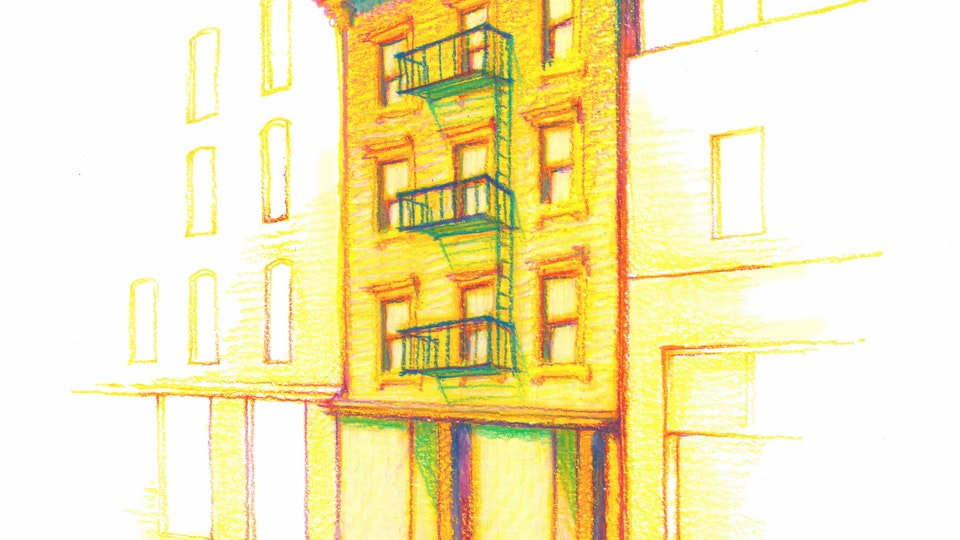 "NYC PRIDE - S.T.A.R. House. NYC Pride Series. (Marker, colored pencil, & gouache, 8""x8"")"