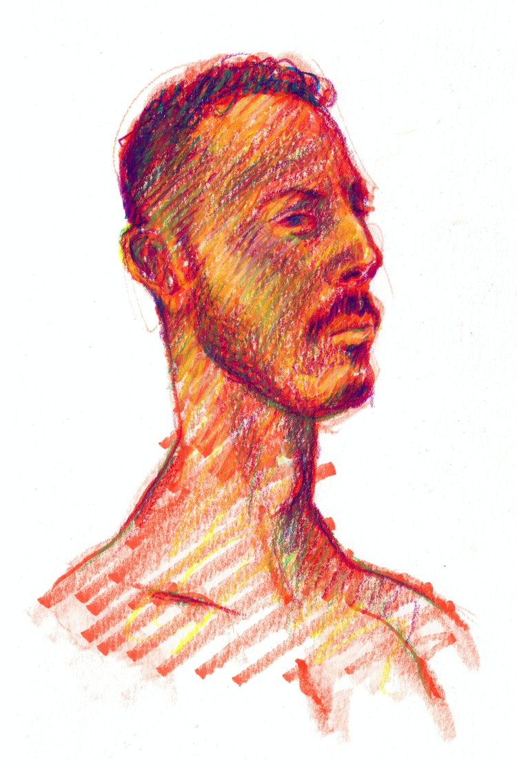 Figure Drawing - Jason 02 (Red)