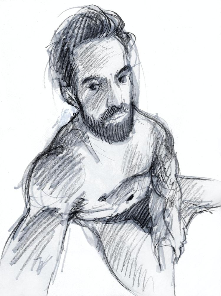 Figure Drawing - Joe 03