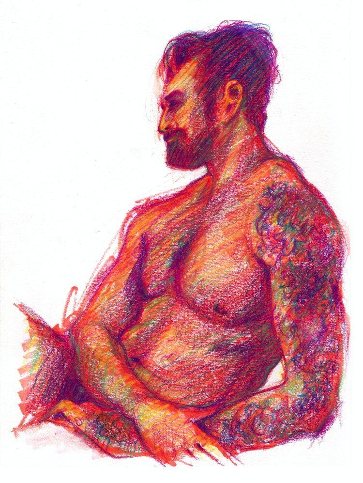 Figure Drawing - Joe 01 (Red)
