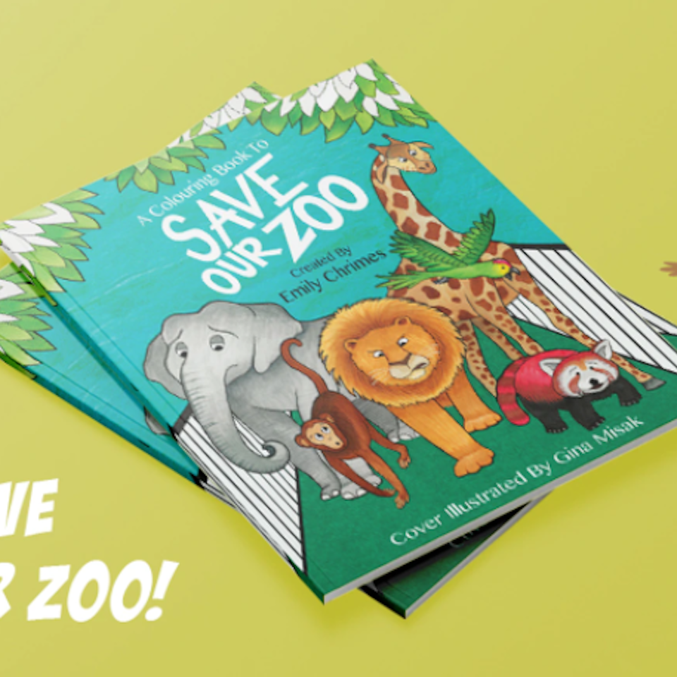 Save Our Zoo Coloring Book Cover